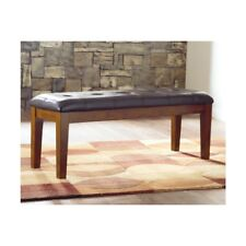 Ashley D594 00 Ralene Faux Leather Upholstered Seat Large Dining Bench