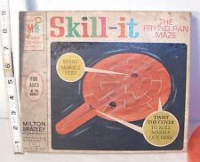 MILTON BRADLEY SKILL-IT FRYING PAN SHAPED PUZZLE MAZE TOY 1960s