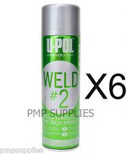 UPOL WELD # 2 Zinc Rich Primer CASE OF 6 WELD/AL