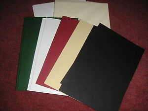 SINGLE FOLD CARD BLANKS - LEATHER FINISH - A5