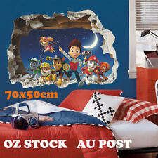 3D Paw Patrol Wall Stickers Removable Scene Setter Decal Birthday Party Decor