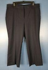 NWT TALBOTS Size 16 Black Pants Trousers Cropped Capri Career (P14)