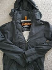 Superdry Grey Hooded Windcheater Size Small