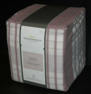 Threshold flannel sheet set - 4pc Purple/white/grey plaid FULL NIP