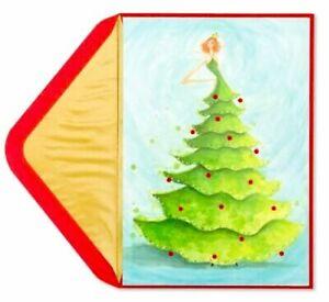 Papyrus Bella Pilar Gemmed Christmas Tree Dress Holiday Christmas Greeting Card