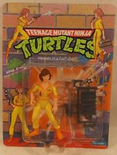 "Teenage Mutant ninja Turtles TMNT 1991 April O'Neil ""Press"" On Shirt 44 Back MOC"