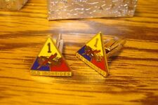 ARMY 1st Armored Division Old Ironsides Hamilton Gold Plated Cufflinks (Pair)