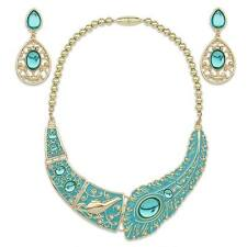 Disney Store Authentic Aladdin Princess Jasmine Necklace & Earings Jewelry Set