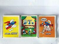 Vintage 1982 SMURF Lot Spiral Notebook Lined Paper Smurfette Papa Cowboy Super