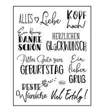 Motiv-stempel Clear-stamp Sprüche Wünsche Glückwunsch Alles Liebe Viva 400321400