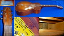 Vintage Pre-War (1937) Supertone Acoustic Parlor Guitar by Harmony Solid Wood