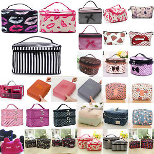Portable Women Cosmetic Cases Make-up Storage Travel Wash Toiletry Pouch Boxes