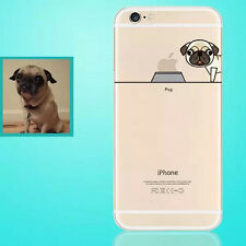 New Lovely Famous Dogs Clear Soft TPU Phone Case Cover for iPhone 5 6S 7 8 Plus