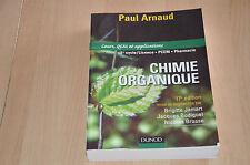 livre Chimie Organique - Cours Qcm et applications / 1er cycle licence - 17e éd