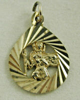 Vintage 9 Carat Yellow Gold Helicopter Charm Spinning Propellers 1.6g 1955