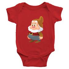 Infant Baby Rib Bodysuit Jumpsuit Romper Babysuit Clothes Seven Dwarfs Happy