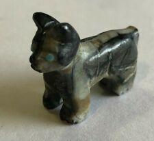 Zuni Boston Terrier Pug Dog Fetish Picasso Marble Tiny Cody Nastacio *New* 0673
