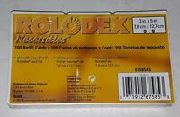 "Rolodex Necessities Refill Cards 100ct 3"" x 5"" White 67585AS New Old Stock"
