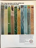 ORIGINAL 1965 Full Service Bank Print Ad A Long, Long Look