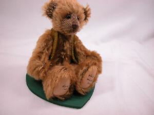 "World of Miniature Bears  By Theresa Yang 4""  German Mohair Bear Byron #871"