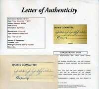 JAMES J JEFFRIES JSA COA Autograph 3X5 Index Cut Hand Signed Authentic