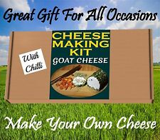 3 x Cheese Making KIT GOAT CHEESE & CHILLI MIX  Great Gift Present Birthday