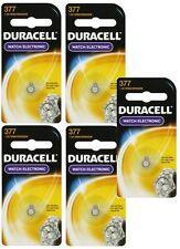 5 Duracell 377 - SR626SW Button Cell Batteries