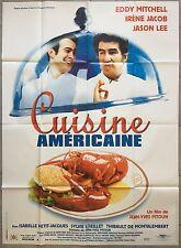 Affiche CUISINE AMERICAINE Jason Lee EDDY MITCHELL Restaurant 120x160cm *