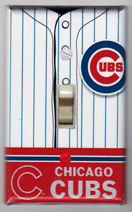 Chicago Cubs Home Jersey Light Switch Cover Plate - Cubs Home Decor