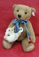2016 STEIFF LTD 56/1500 LITTLE BOY BLUE JOINTED TEDDY BEAR & LA 683077 30 CM 12""