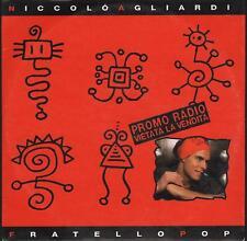 """NICCOLO' AGLIARDI - RARO CDs PROMO """" FRATELLO POP """""""