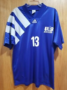 adidas USA US Soccer USMNT 1992 Away Jersey Cobi Jones #13 Size XL