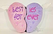 Girls Besties Forever BFF Glitter Heart Decorative 2 Part Pink Purple Pillows
