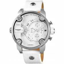 NEW DIESEL DZ7265 MR DADDY 2.0 White Multiple Time Zone Chronograph Mens Watch