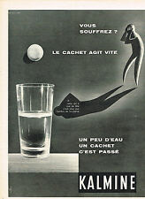 PUBLICITE ADVERTISING 1960   KALMINE  médicament anti-douleur