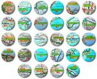MINI FRIDGE MAGNET - UK TOWNS & CITIES (Various Designs) -  1