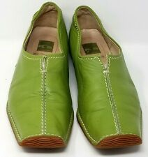 Kemmel & Schmenger womens green leather loafers size 8 2 Be Well European style