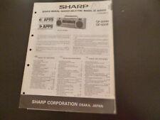 Original Service Manual Schaltplan  Sharp GF-500H/E