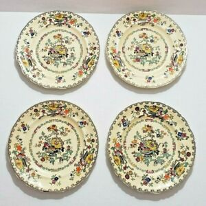 Mason's Real Ironstone China Hand Painted Dessert Plates (4pc)  England C.3182