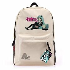 Hot Hatsune Miku Large size Canvas Leisure backpack Cosplay School bag