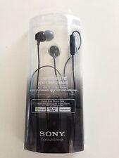 Sony MDR-EX15AP Earbuds Headphones w/mic MDREX15AP - Black - New Open Box