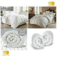 13.5 TOG HOTEL QUALITY 100% MICROFIBER DUVET QUILT LIKE DOWN BEDDING ALL SIZES