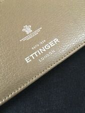 ORGANISER-ETTINGER LONDON-NOTELET HOLDER-RARE SOFT CAMEL CALF LEATHER-BEAUTY-NEW
