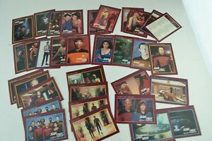 Star Trek The Next Generation 1991 Paramount Trade Cards Trading TCG Vintage Lot