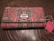 OILILY  L WALLET IN CORAL BRAND NEW WITH TAGS GREAT WEDDING GIFTS RETAIL 75.00