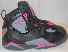 promo code 6b110 a62ff Jordan True Flight Toddlers 645071-009 Black Grey Pink Shoes Baby Girls Size  7