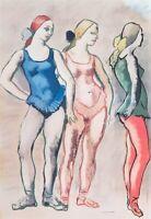 Francesco Messina, Le Ballerine Litografia a colori in cornice Grafica d'autore