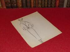 MODE FRENCH HAUTE COUTURE DESSIN ORIGINAL ANCIEN Fashion PIERRE BALMAIN 1952 -44