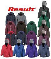 Result Childrens Reversible Storm Stuff Jacket Zipped Plain Outerwear