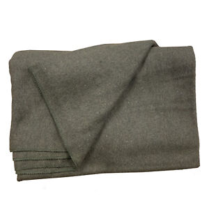 Olive 85% Wool Blanket 227cmx172cm MILITARY CADET Scouts EMERGENCY Camping ARMY